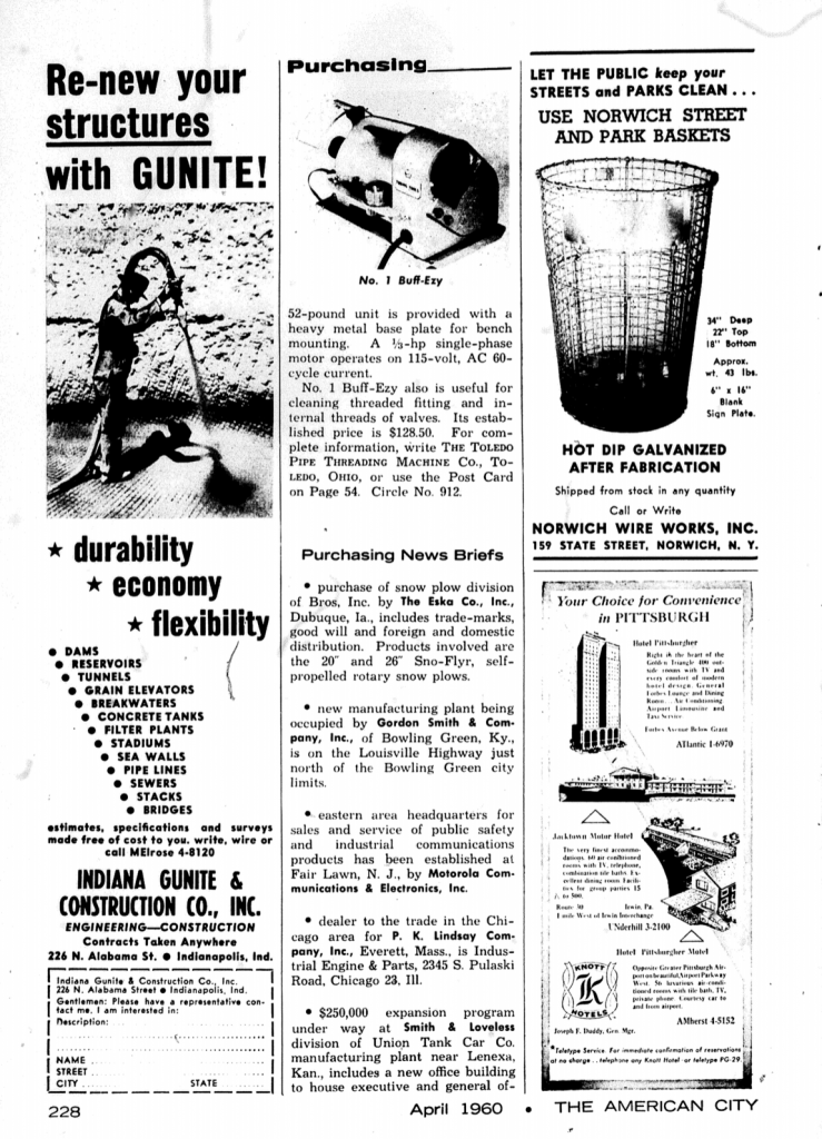 Norwich Wire Works, Inc 1960 Ad